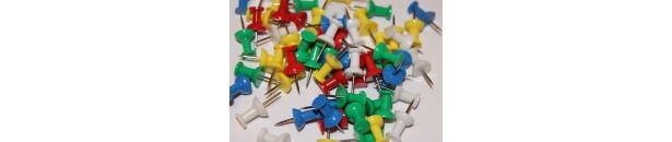 Pinzezki, zaciski, gumki i inne